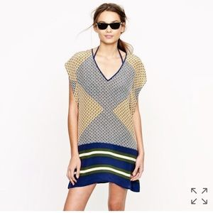 J. Crew Silk Abstract Swim Coverup
